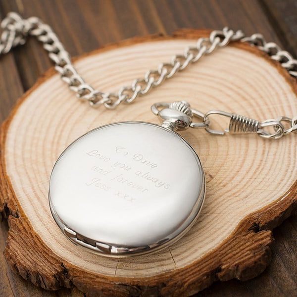 7 unique christmas gift ideas for a boyfriend-engraved-pocket-watch_BeUnique.co