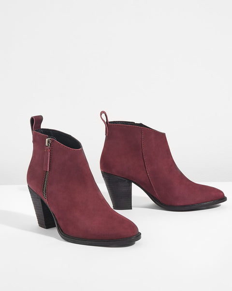 ANSTI ANKLE BOOT color wine-Amazing christmas gift for her-BeUnique.co