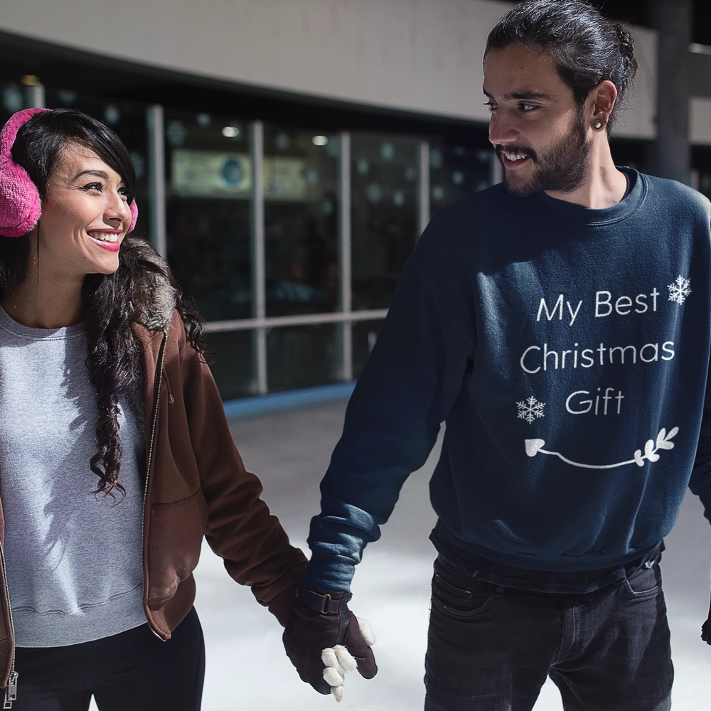 My Best Christmas Gift | Women's Christmas Sweater - Couple Christmas Outfit