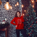 Baby it's cold outside | Christmas sweatshirt with snowflakes