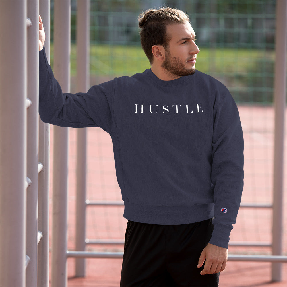 "HUSTLE | Made in partnership with the brand ""Champion"""