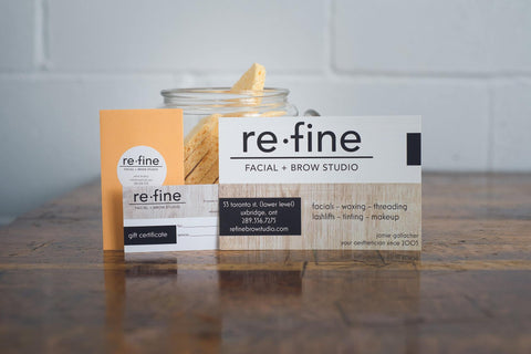 refine business card