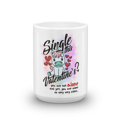 Original Funny Cute Unicorn Single Valentines Glossy Coffee Mug - Made in USA - KayZ Pro