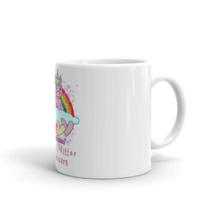 Love is All About Rainbows, Glitter And Unicorn Valentines Mug