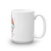 Image of Love is All About Rainbows, Glitter And Unicorn Valentines Mug - KayZ Pro