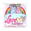 Image of Original Cute Unicorn Valentines Gift Lovers Square Pillow - KayZ Pro