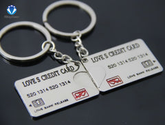 Bankcard/ Credit card Couple Keychain ( Buy 1 keychain, Get free for your other half for just $9.99)
