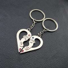 Valentine's Day Novelty Couple Keychain Gift (1 pair -  Buy One Get One Free with just $9.99)