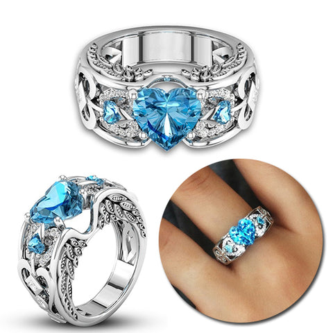 Heart Shaped Engagement Ring for Ladies - KayZ Pro