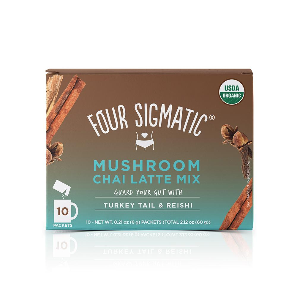 Four Sigmatic - chai latte turkey tail y reishi - CAJA