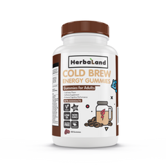 Herbaland Cold Brew Energy Gummies para Adulto