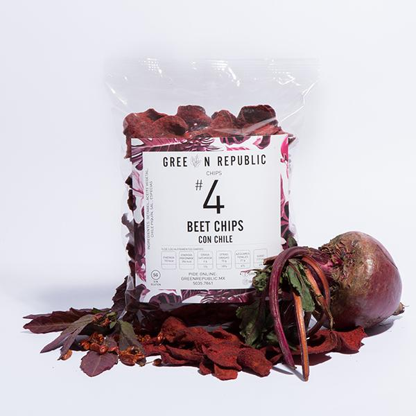 Beet Chips con Chile