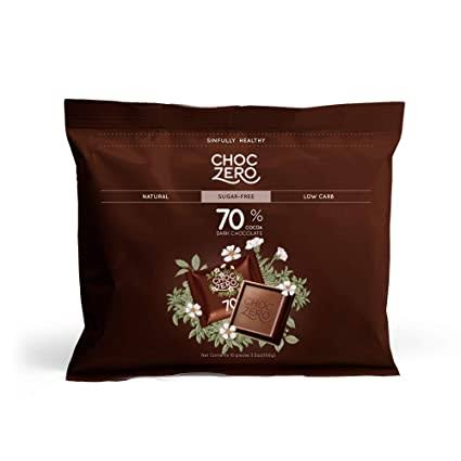 Choc Zero 70% Cocoa Dark Chocolate