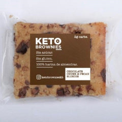 Keto Brownie - Chocolate Chunk Y Pecan Blondie (cafe) Solo CDMX