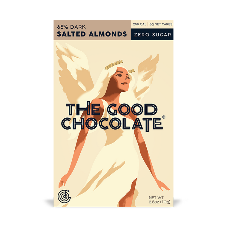 The Good Chocolate Dark Salted Almond