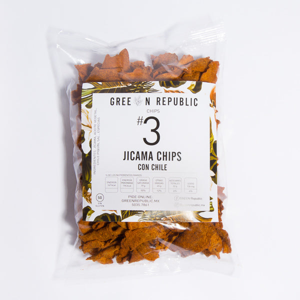 Jicama Chips con Chile