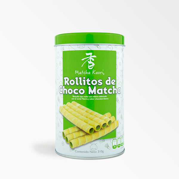 Galletas rollitos de matcha