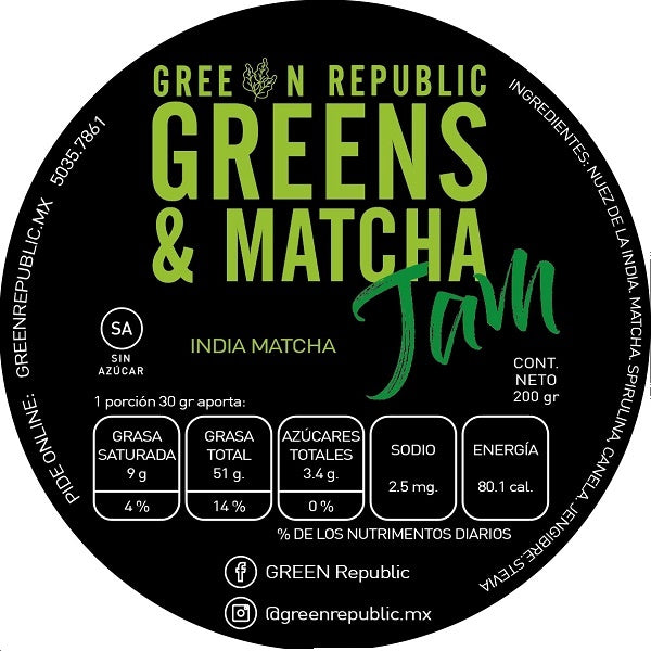 JAM Greens and Matcha