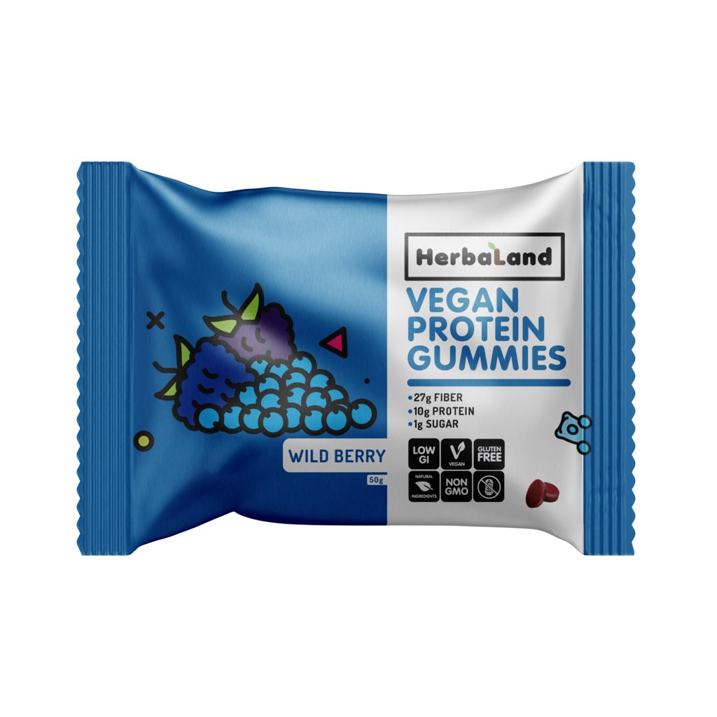 Vegan Proteín Gummies Wild Berry