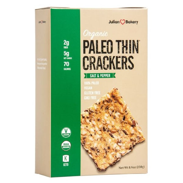 Paleo Thin Crackers Salt & Pepper