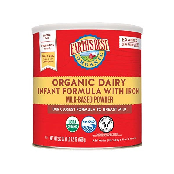 Organic Dairy Infant Formula With Iron