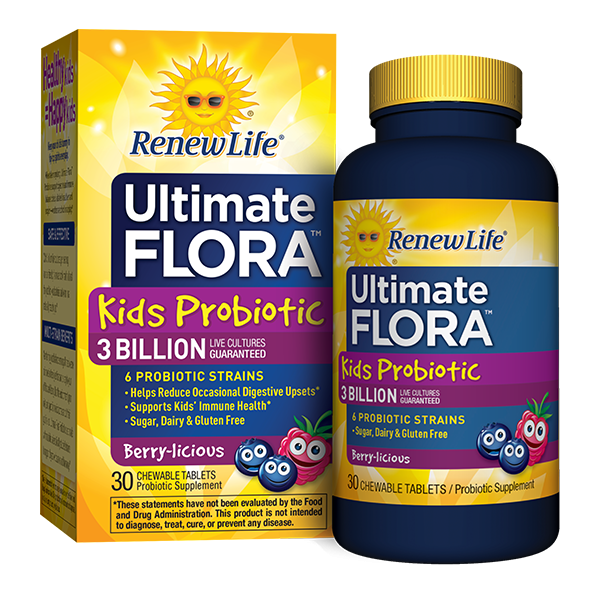 Renew Life - Ultimate Flora Kids (30 tab masticables)