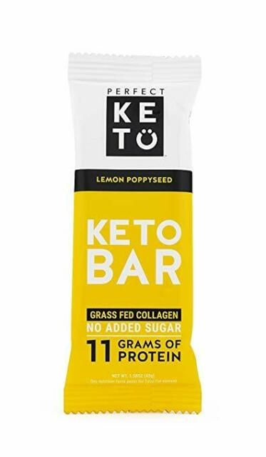 Keto Bar Lemon Poppyseed