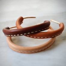 LEATHER AND BRONZE CUFF BRACELET