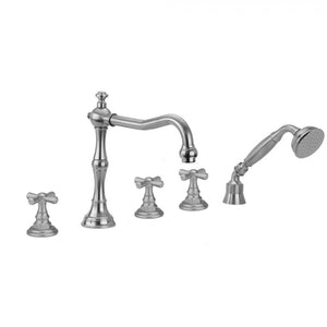 Roaring 20's Hex Cross Handles with Handshower - 9930-T676-TRIM