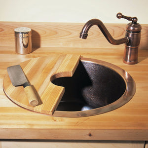 Copper Round Veggie Sink - CP-14