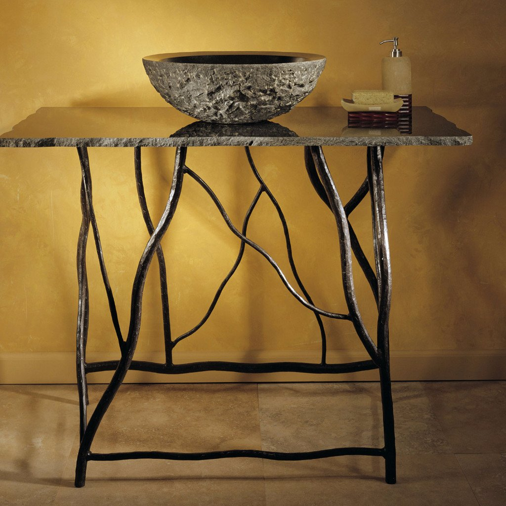 Iron Branch Console & Top - PI10 BL