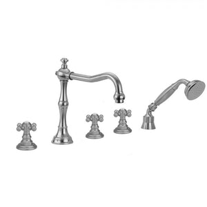 Roaring 20's Ball Cross Handles with Handshower - 9930-T678-TRIM