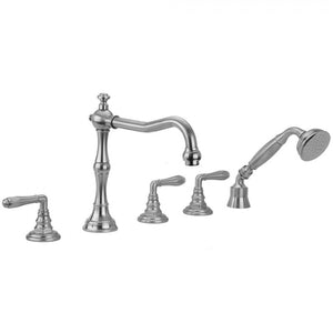 Roaring 20's Smooth Lever Handles with Handshower - 9930-T674-TRIM