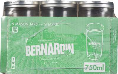 Canning Jars - 750ml wide mouth