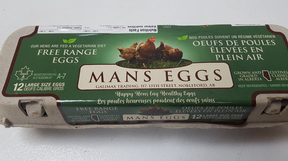 Eggs - Free Range Large Dozen