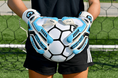 Renegade GK Fury Sub Z Goalie Gloves Girl Holding Ball