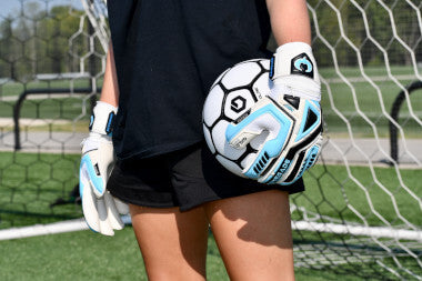Renegade GK Fury Sub Z Soccer Goalie Gloves Girl Standing