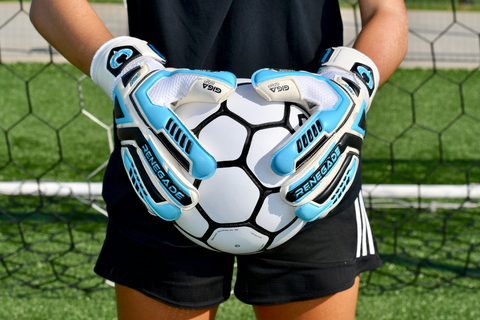 soccer goalie holding ball with Fury Sub-Z goalkeeper gloves