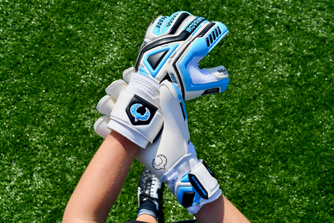 goalkeeper checking out the Fury Sub-Z gloves