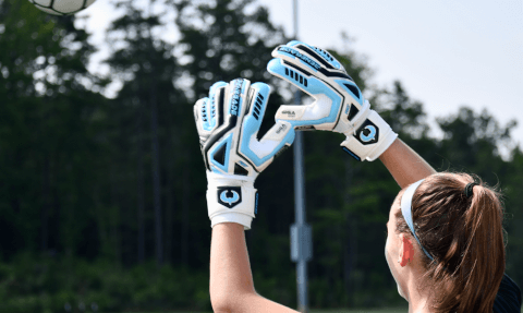 Renegade GK Fury Sub Z Keeper Gloves Girl Catching Ball