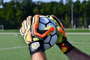 Renegade GK Fury Volt Soccer Goalkeeper Gloves Catching the Ball