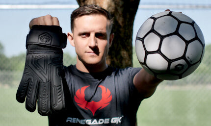 Renegade GK Fury Nightfall Gloves and Ball