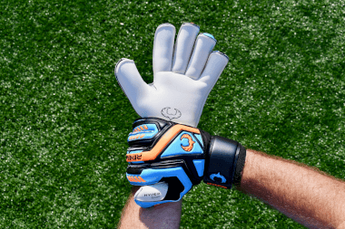 Renegade GK Talon Cyclone 2 Goalkeeper Gloves Holding Wrist