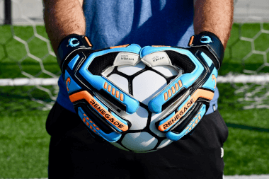 Renegade GK Talon Cyclone 2 Soccer Goalie Gloves Holding Ball POV