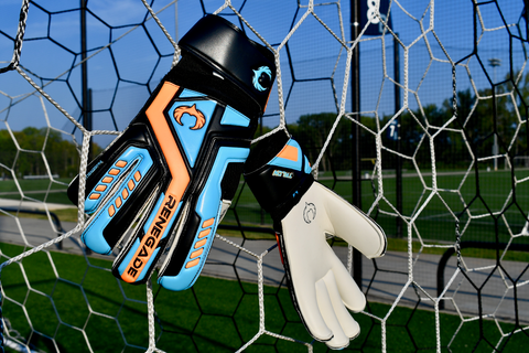 renegade gk talon cyclone 2 hanging in the soccer net