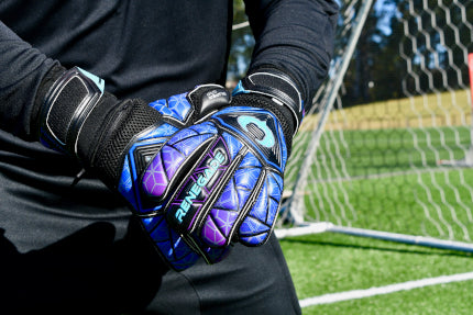 Goalkeeper Adjusting the Wrist Strap of Vortex Storm