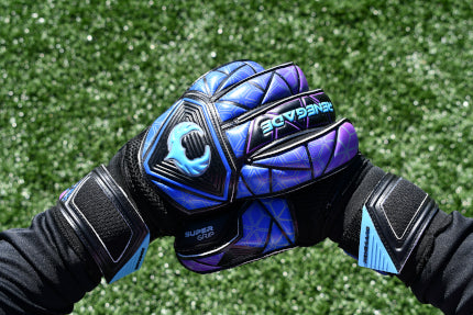Goalkeeper Adjusting the Vortex Storm Gloves