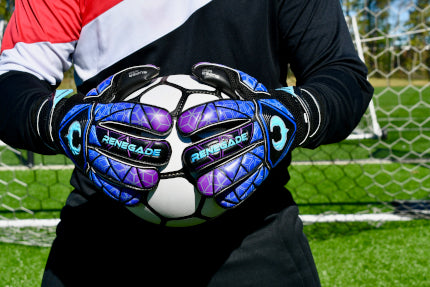Goalkeeper holding the ball with 2 hands using Vortex Storm
