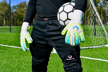 Goalkeeper wearing Vortex Wraith Standing with Ball in Hand