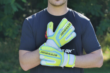 goalkeeper with vulcan surge adjusting wrist